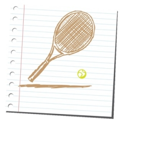 Ligned Tennis Ball and Racquet v2